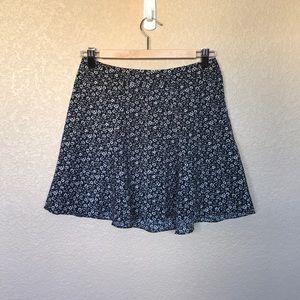 H&M Divided Floral Black & White Skirt